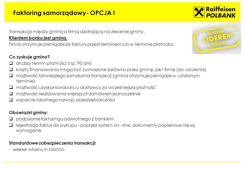 Faktoring samorządowy- OPCJA I