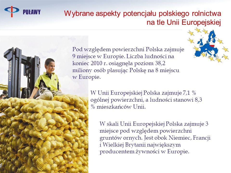 Wybrane aspekty potencjału polskiego rolnictwa na tle Unii Europejskiej