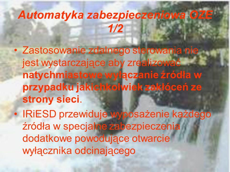 Automatyka zabezpieczeniowa OZE 1/2