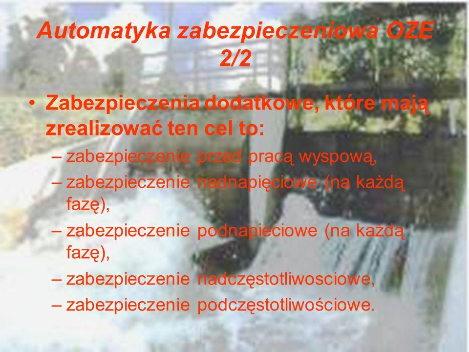 Automatyka zabezpieczeniowa OZE 2/2