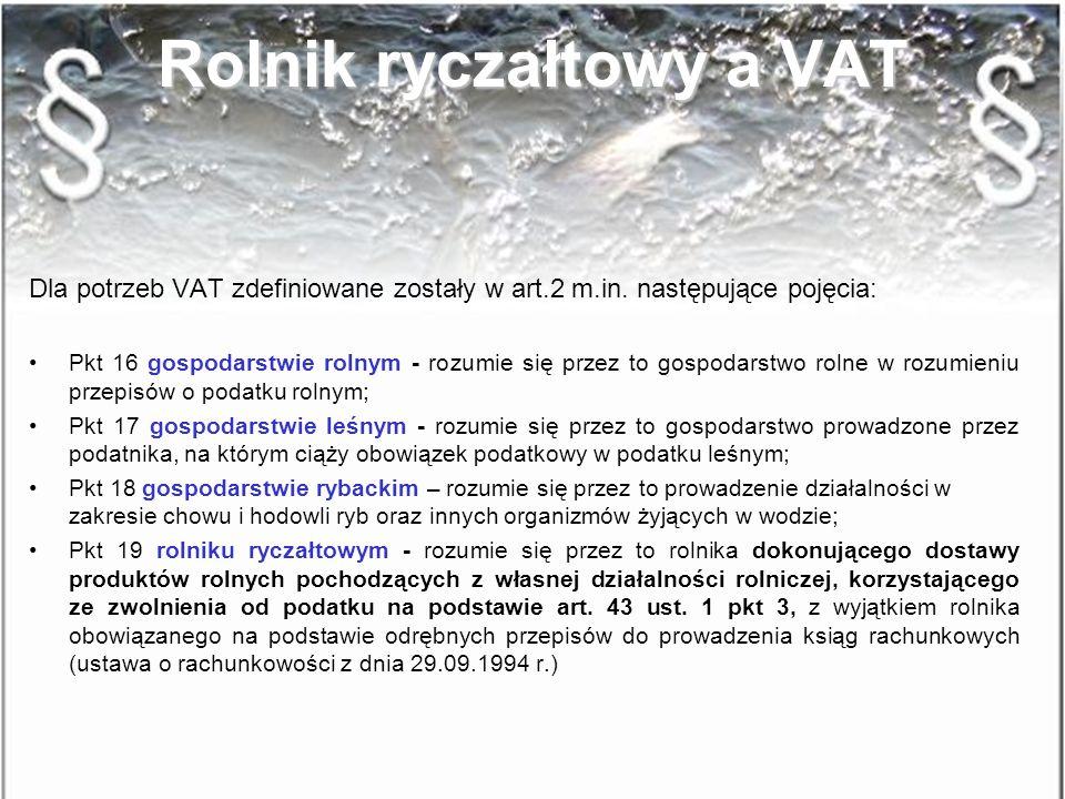 Rolnik ryczałtowy a VAT