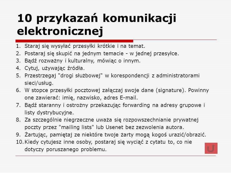 10 przykazań komunikacji elektronicznej