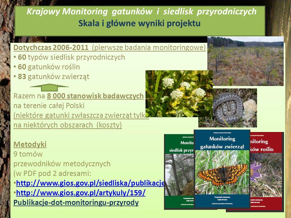 Krajowy Monitoring gatunków i siedlisk przyrodniczych Skala i główne wyniki projektu