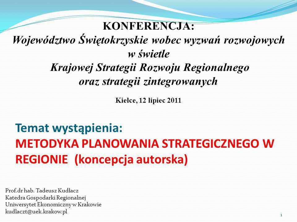 KONFERENCJA: Województwo Świętokrzyskie wobec wyzwań rozwojowych w świetle. Krajowej Strategii Rozwoju Regionalnego.