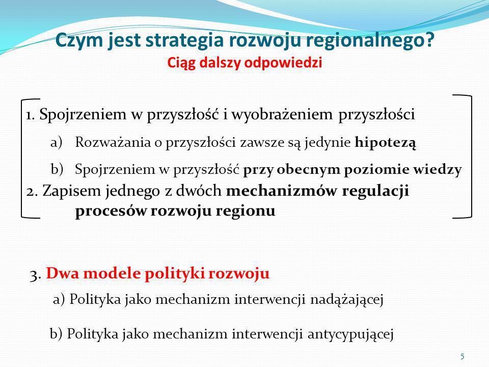Czym jest strategia rozwoju regionalnego Ciąg dalszy odpowiedzi