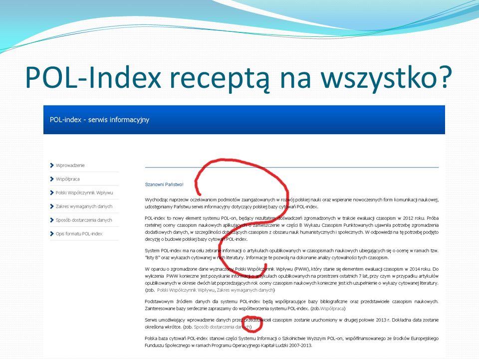 POL-Index receptą na wszystko