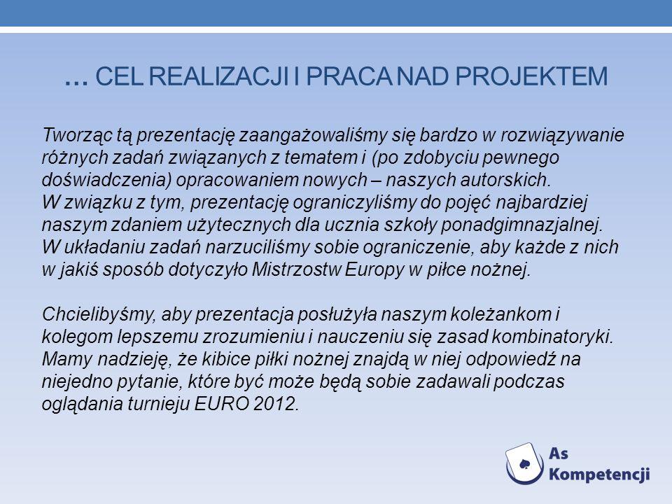 … CEL realizacji I praca nad projektem