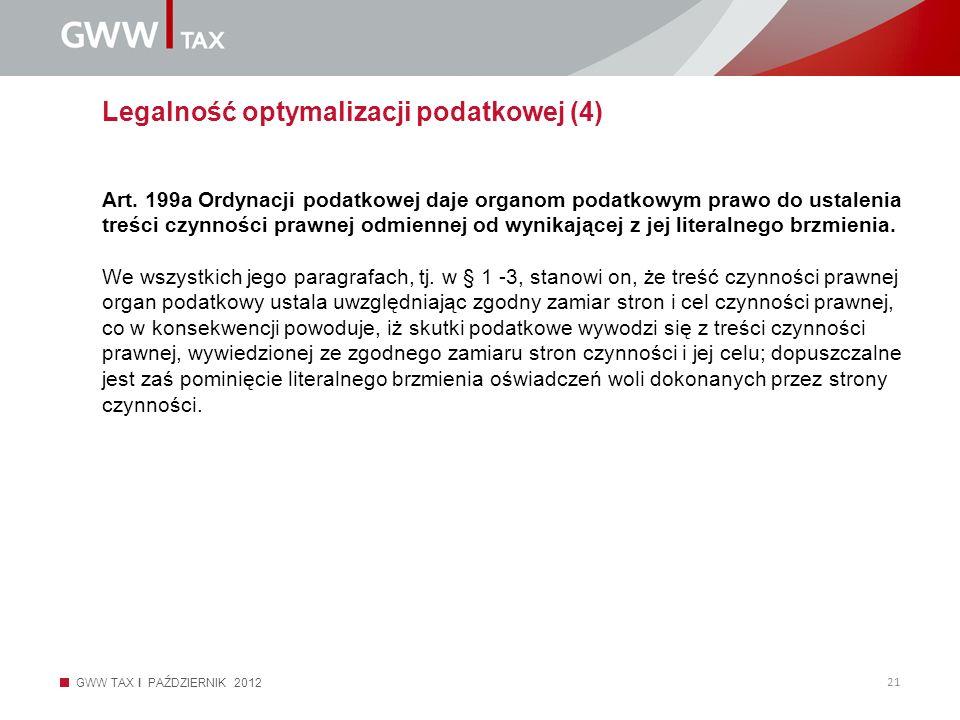 Legalność optymalizacji podatkowej (4)