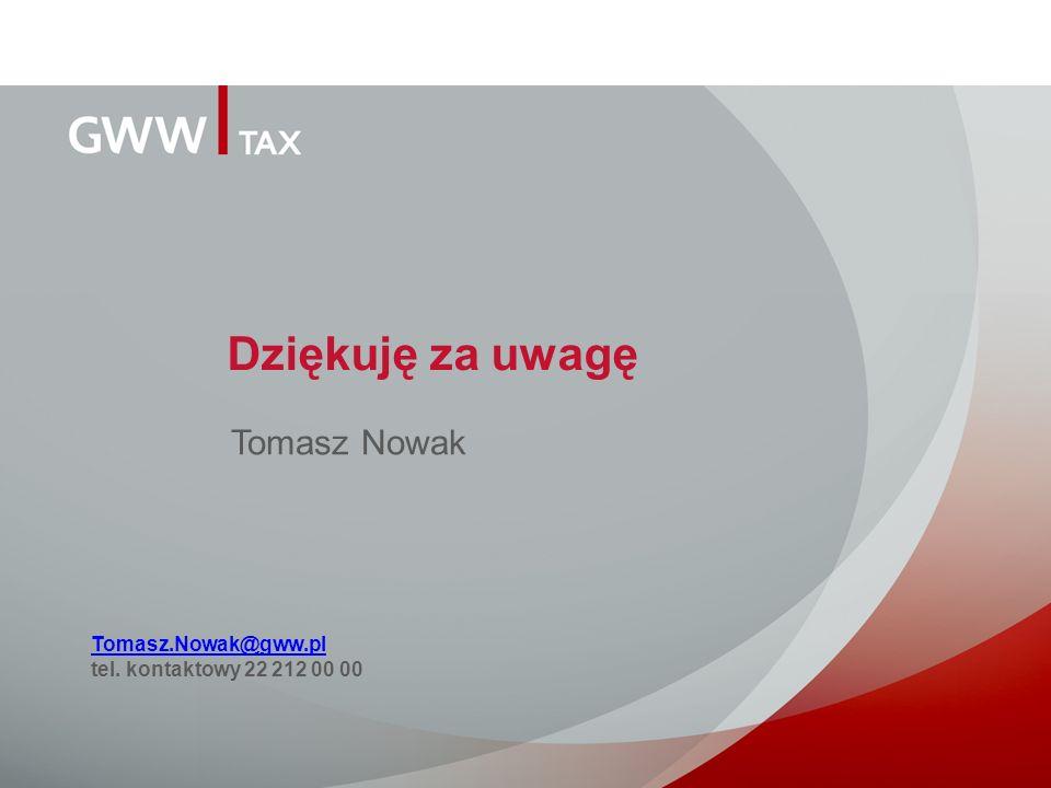 Dziękuję za uwagę Tomasz Nowak Tomasz.Nowak@gww.pl
