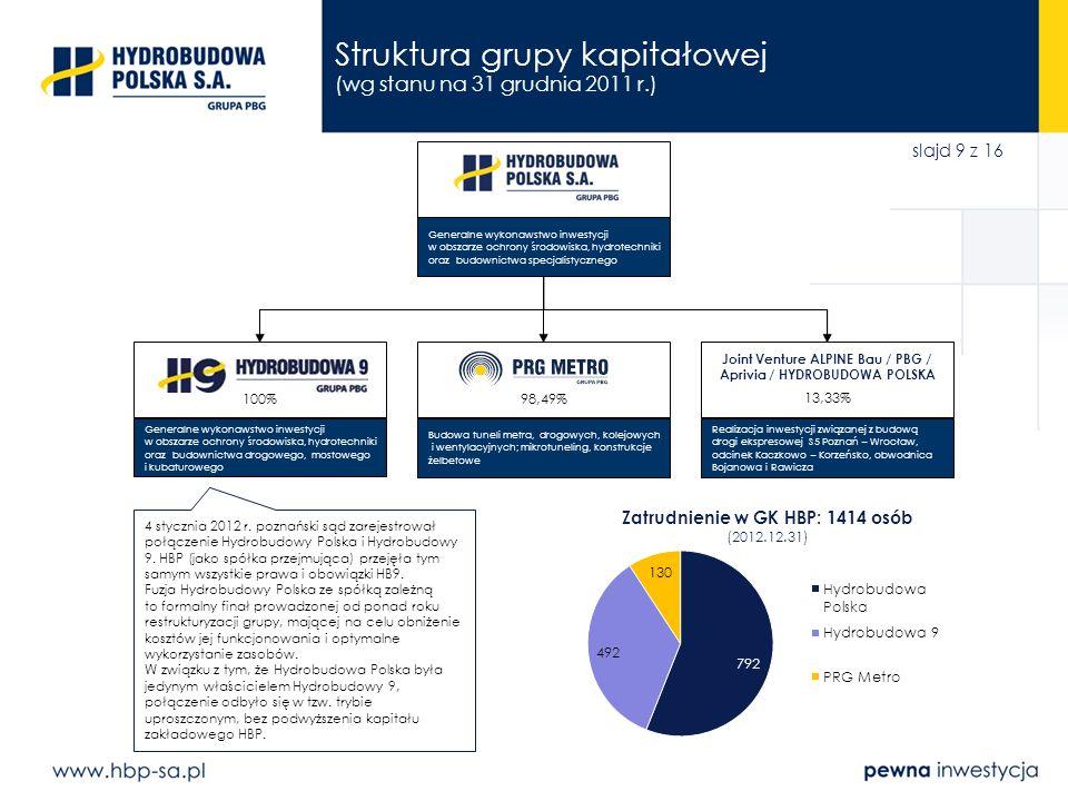 Struktura grupy kapitałowej (wg stanu na 31 grudnia 2011 r.)