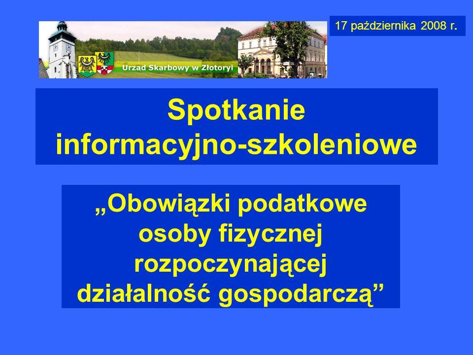 Spotkanie informacyjno-szkoleniowe