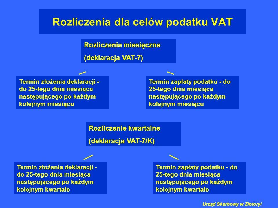 Rozliczenia dla celów podatku VAT