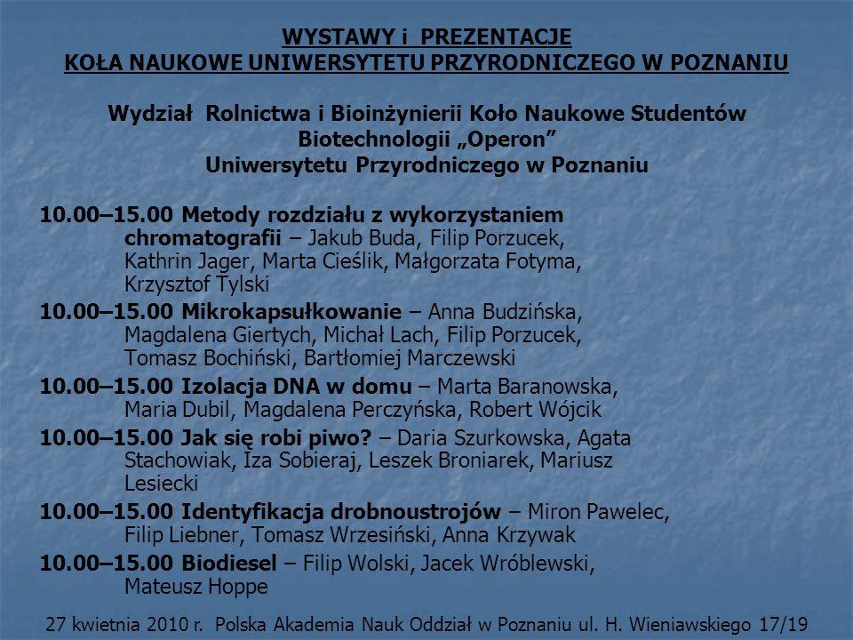 10.00–15.00 Biodiesel – Filip Wolski, Jacek Wróblewski, Mateusz Hoppe