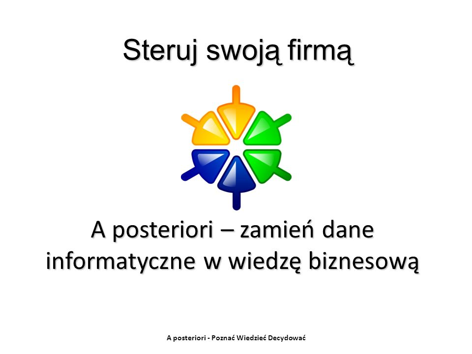 A posteriori – zamień dane informatyczne w wiedzę biznesową