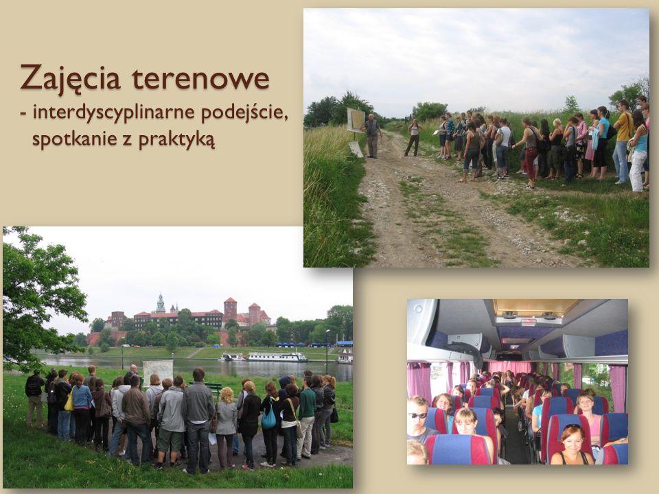 Zajęcia terenowe - interdyscyplinarne podejście, spotkanie z praktyką