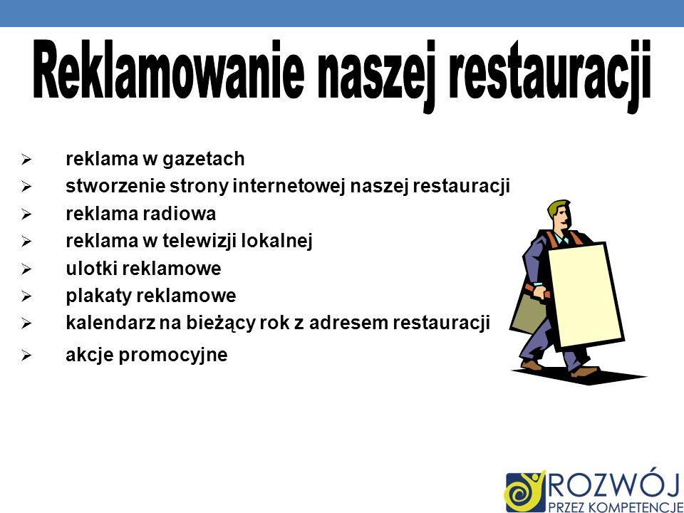 Reklamowanie naszej restauracji