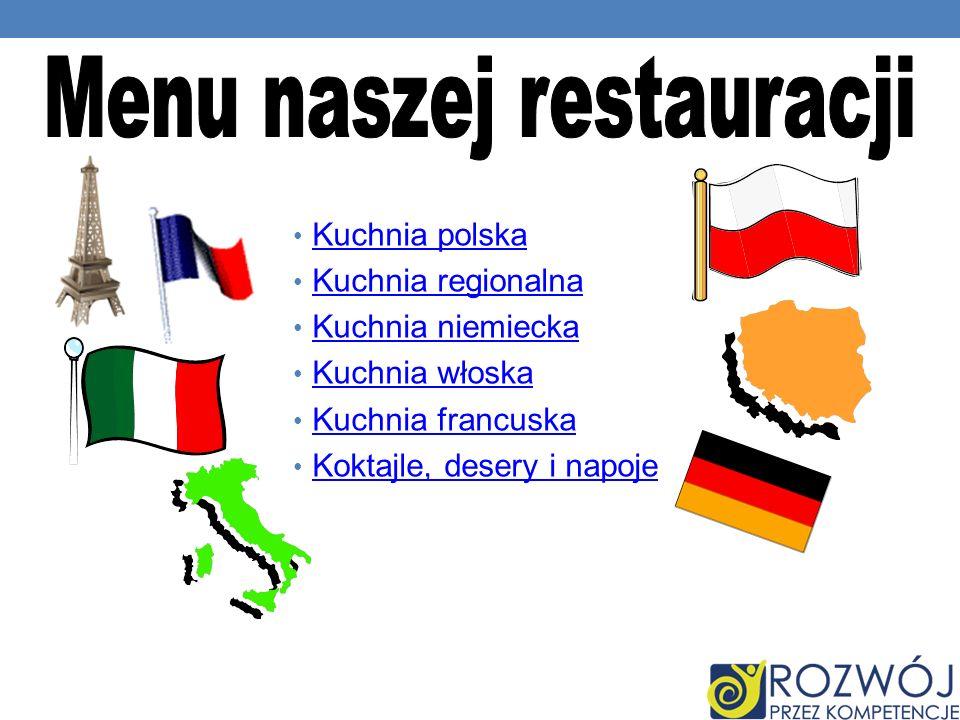 Menu naszej restauracji
