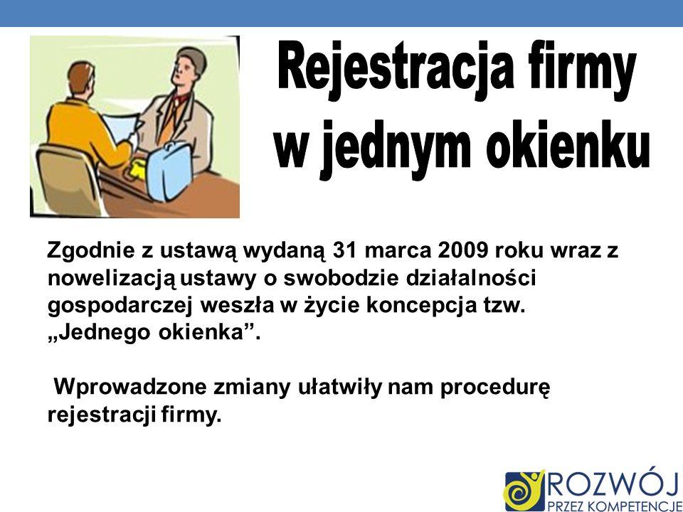 Rejestracja firmy w jednym okienku