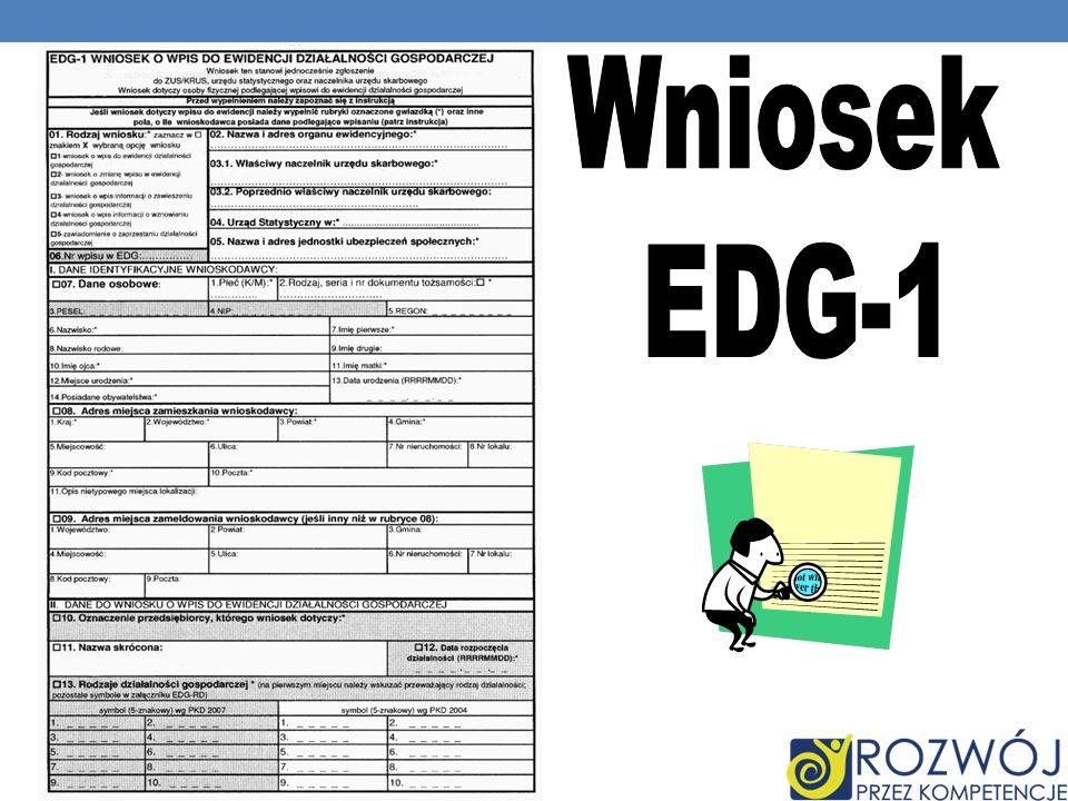 Wniosek EDG-1