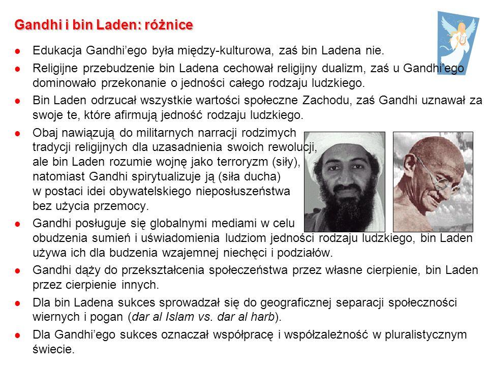 Gandhi i bin Laden: różnice