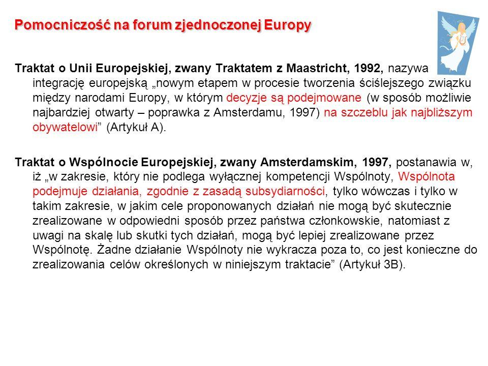 Pomocniczość na forum zjednoczonej Europy