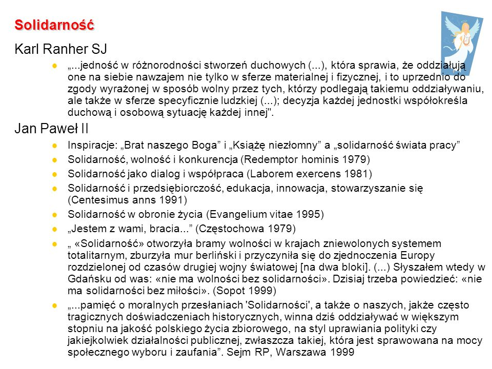Solidarność Karl Ranher SJ Jan Paweł II