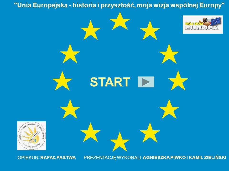 Unia Europejska - historia i przyszłość, moja wizja wspólnej Europy