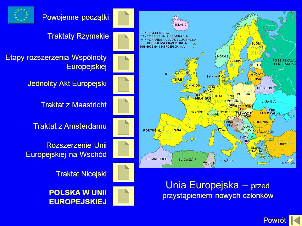 Unia Europejska – przed przystąpieniem nowych członków