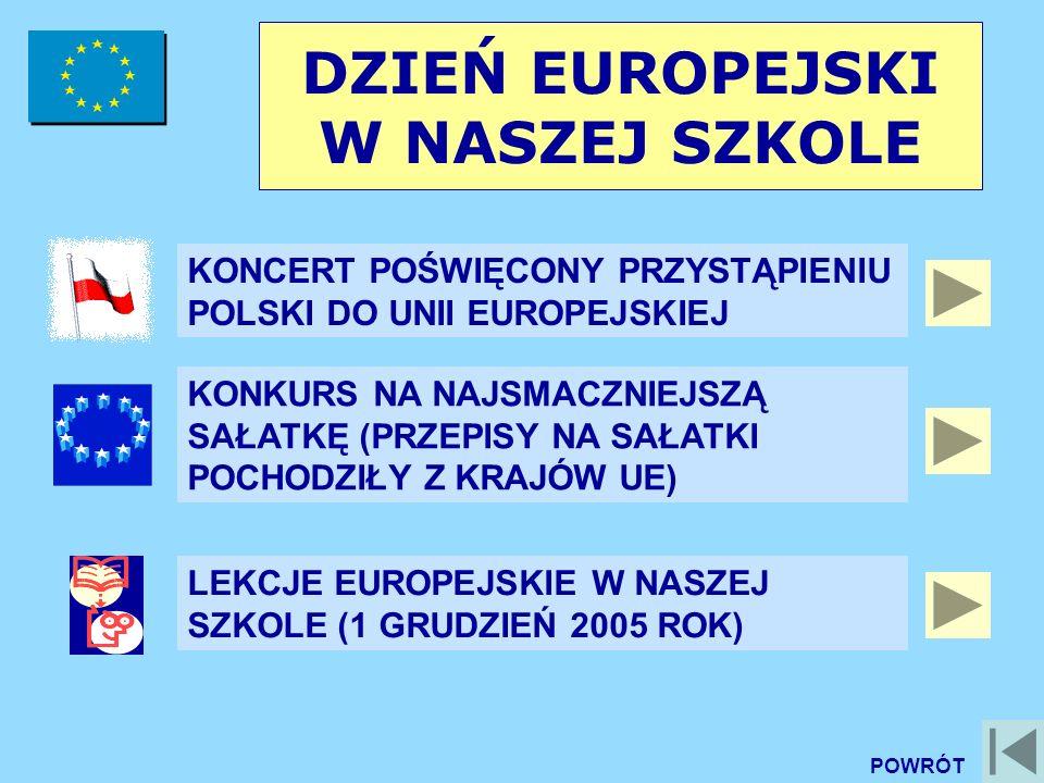 DZIEŃ EUROPEJSKI W NASZEJ SZKOLE