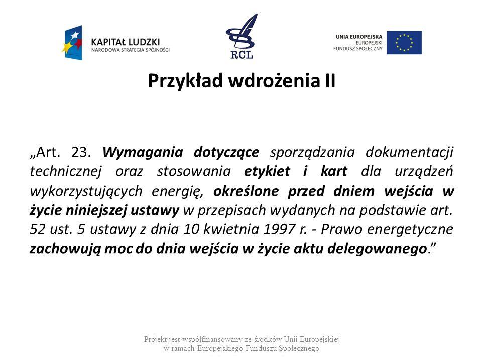 Przykład wdrożenia II