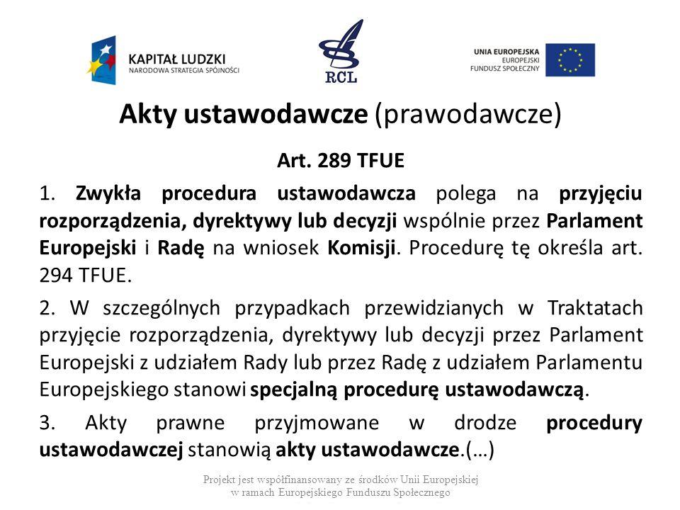 Akty ustawodawcze (prawodawcze)