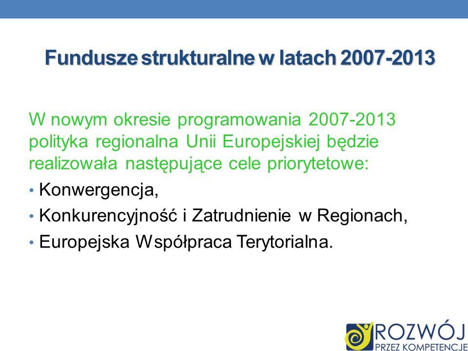 Fundusze strukturalne w latach 2007-2013