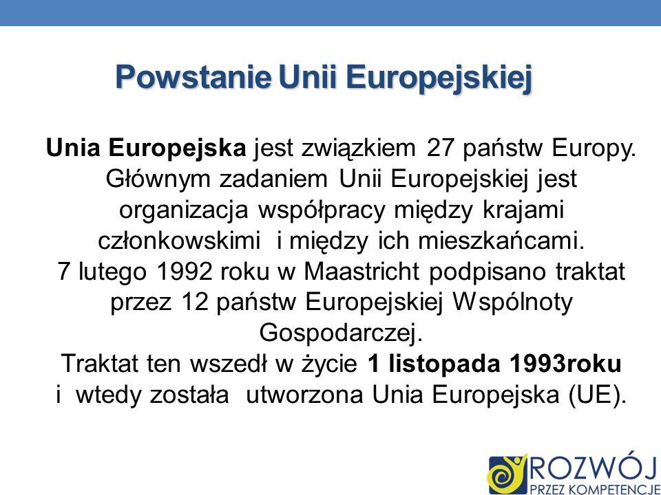 Powstanie Unii Europejskiej