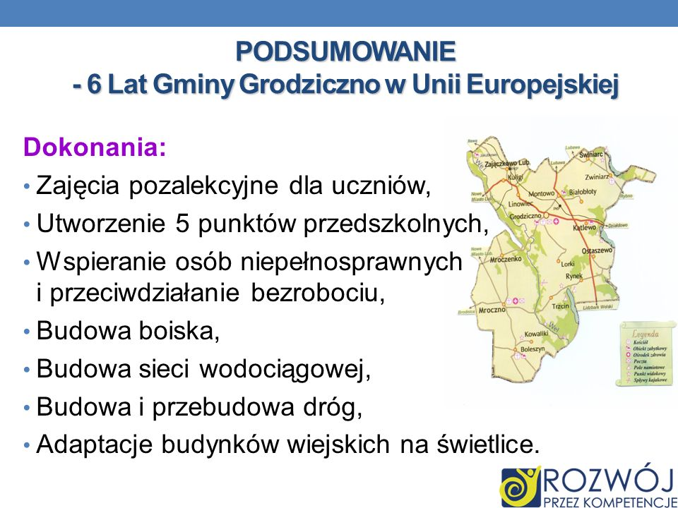 PODSUMOWANIE - 6 Lat Gminy Grodziczno w Unii Europejskiej