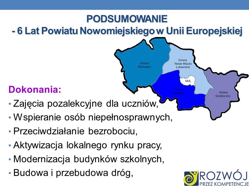 PODSUMOWANIE - 6 Lat Powiatu Nowomiejskiego w Unii Europejskiej