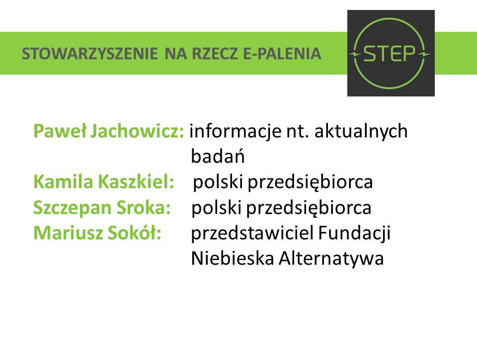 Paweł Jachowicz: informacje nt. aktualnych badań