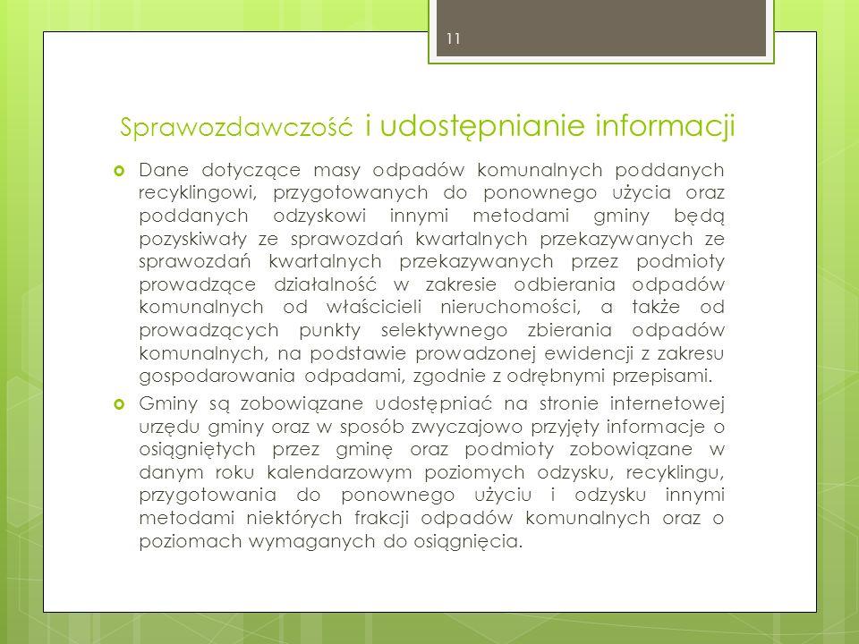 Sprawozdawczość i udostępnianie informacji