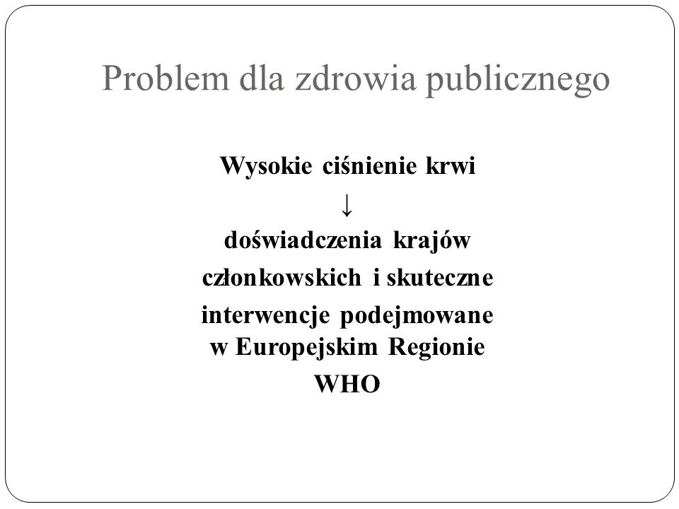 Problem dla zdrowia publicznego