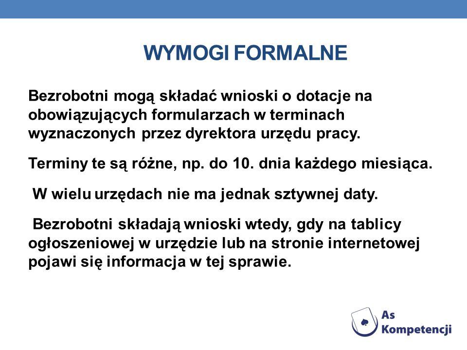 Wymogi formalne