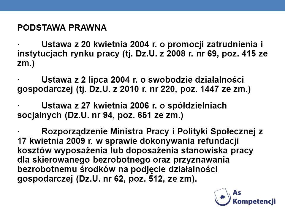 PODSTAWA PRAWNA · Ustawa z 20 kwietnia 2004 r