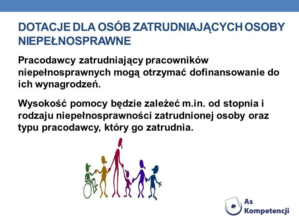 Dotacje dla osób zatrudniających osoby niepełnosprawne