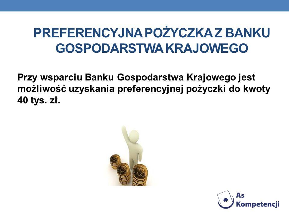 Preferencyjna pożyczka z Banku Gospodarstwa Krajowego