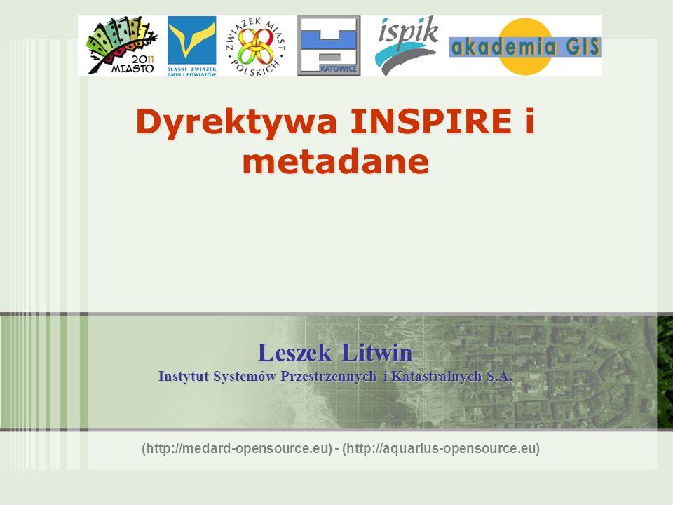 Dyrektywa INSPIRE i metadane