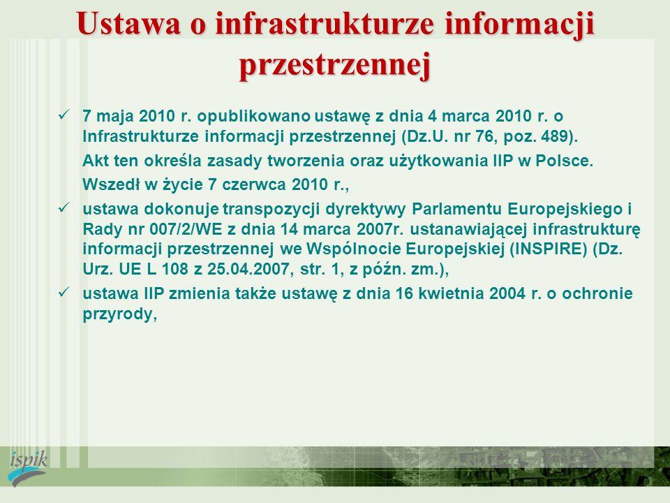 Ustawa o infrastrukturze informacji przestrzennej