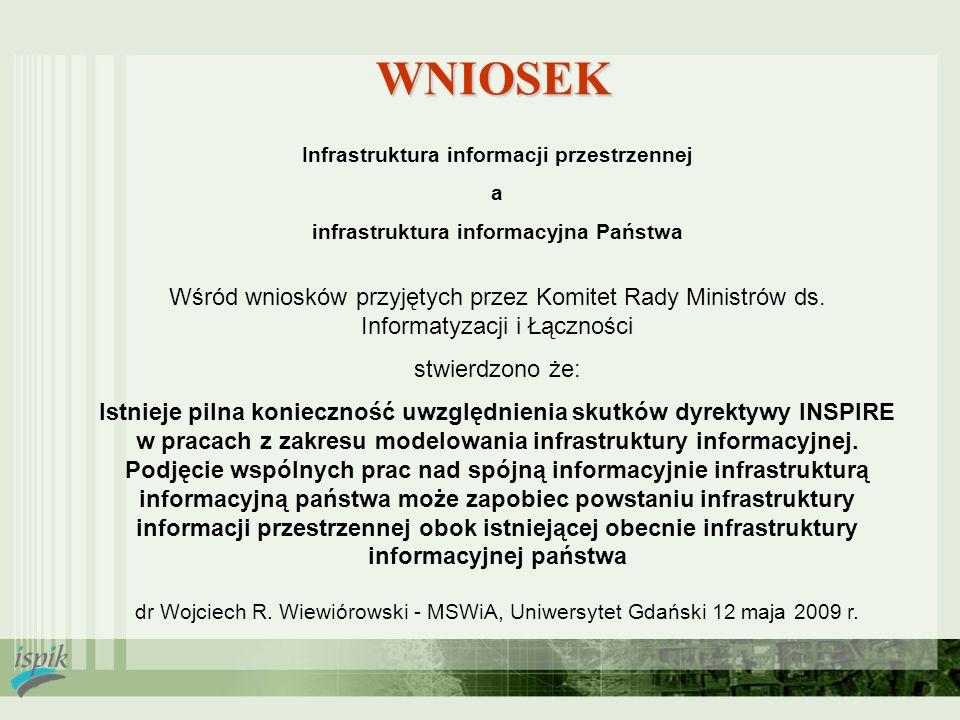 2017-03-28 WNIOSEK. Infrastruktura informacji przestrzennej. a. infrastruktura informacyjna Państwa.