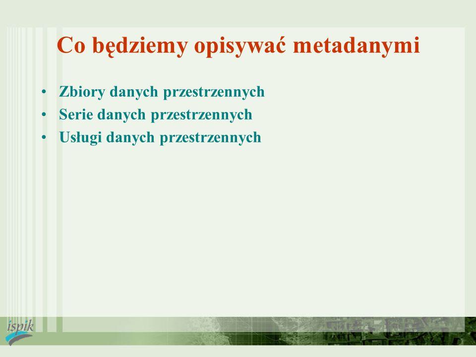 Co będziemy opisywać metadanymi
