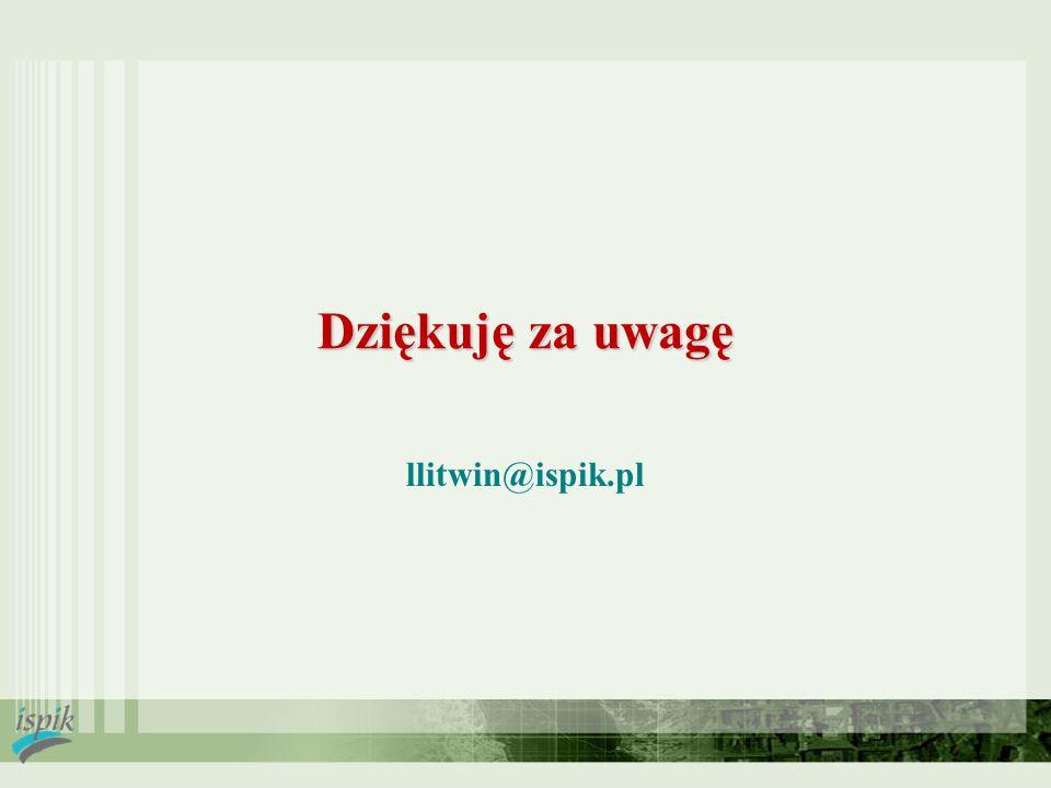 Dziękuję za uwagę llitwin@ispik.pl