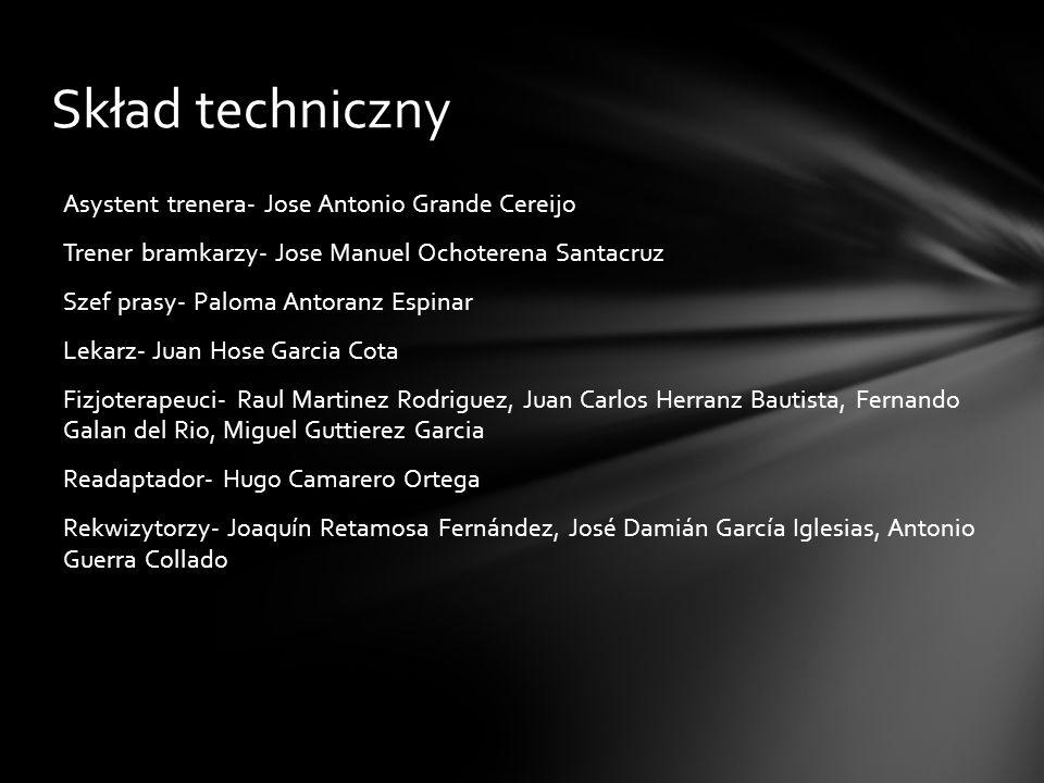 Skład techniczny Asystent trenera- Jose Antonio Grande Cereijo