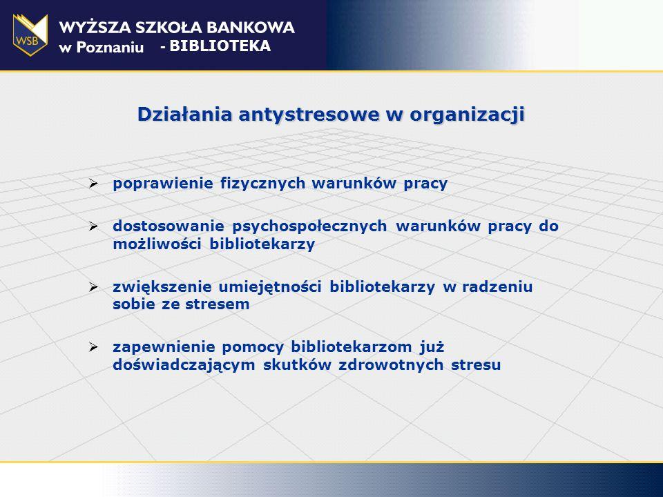 Działania antystresowe w organizacji