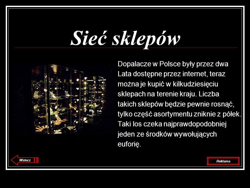 Sieć sklepów Dopalacze w Polsce były przez dwa